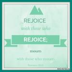 Romans 12:15 – Rejoice #106