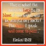 Ezekiel 12:28 – No Delay #120