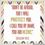 Isaiah 43:1 Do Not Fear #135