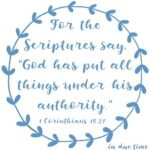 1 Corinthians 15:27 All Authority #162