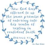 Promise of Rest Hebrews 4:1 #170
