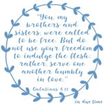 Galatians 5:13 Freedom in Christ #189
