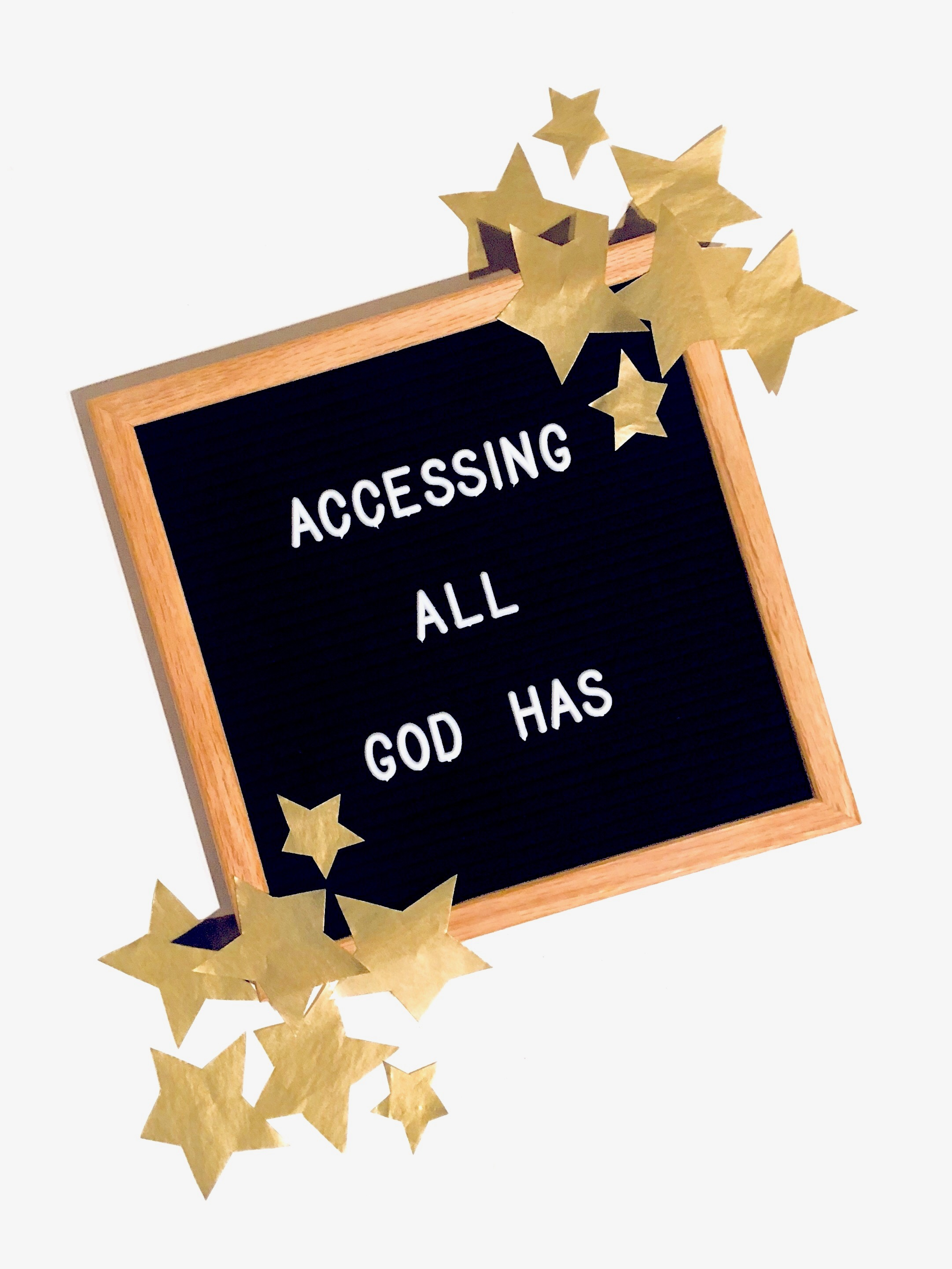 Accessing all God has - in due time blog
