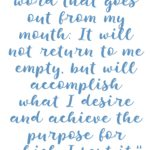 Isaiah 55:11 Word Accomplishes Purpose #211