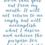 Isaiah 55:11 Word Accomplishes Purpose #211