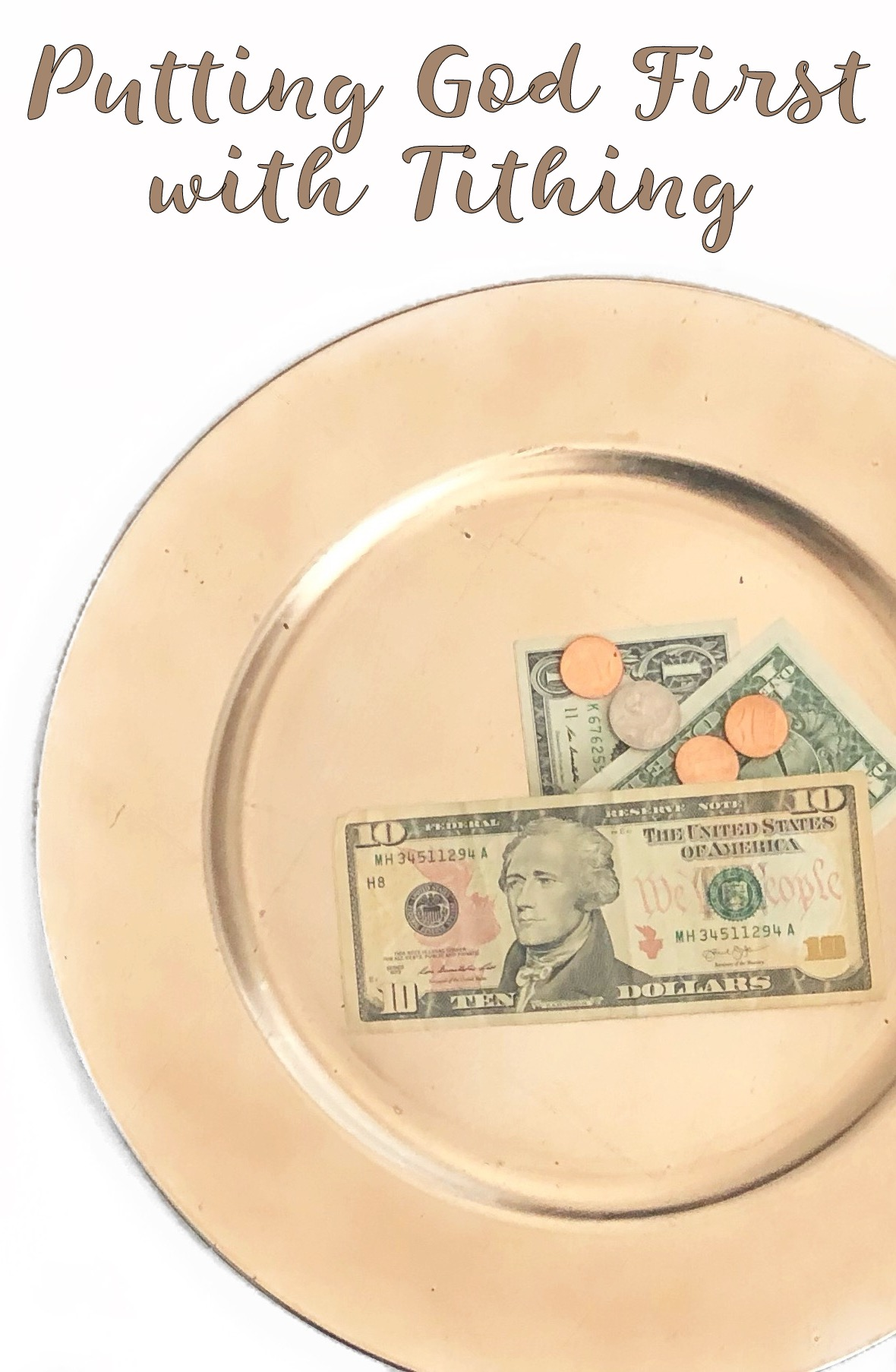 Putting God first by tithing - in due time blog