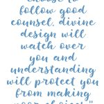 Proverbs 2:10-11 Follow Good Counsel #226