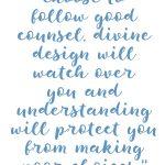 Proverbs 2:10-11 Follow Good Counsel #226