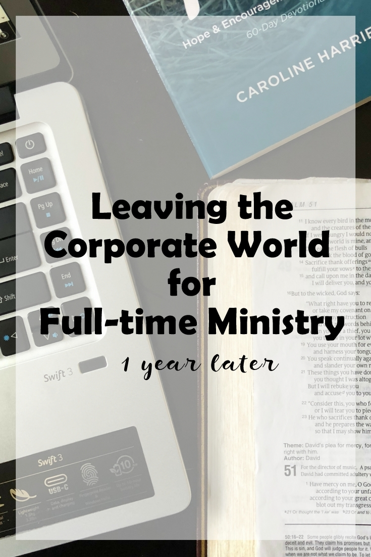 Leaving the Corporate world for full time ministry (4)