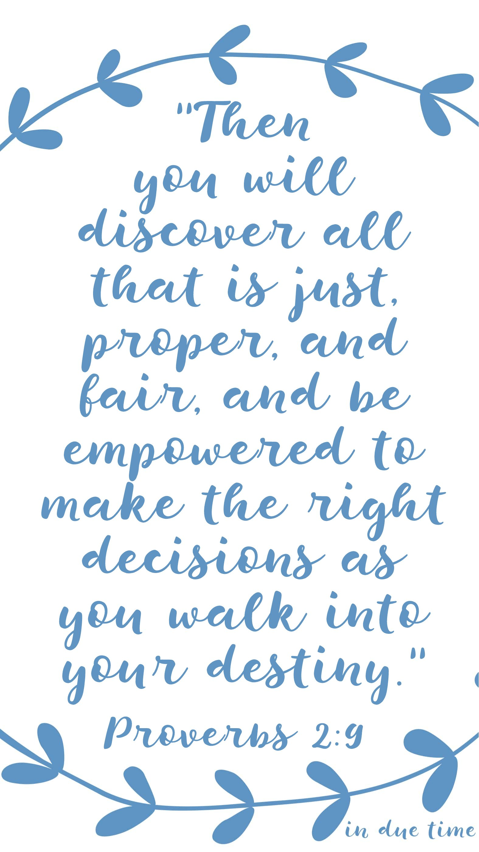 proverbs 2 - then you will discover what is just