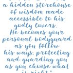 Proverbs 2:7-8 Storehouse of Wisdom#224