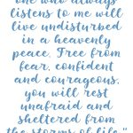 Proverbs 1:33 Rest Unafraid #227