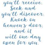 Luke 11:9-10 Ask. Seek. Knock. #230