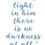 1 John 1:5 God is light #243