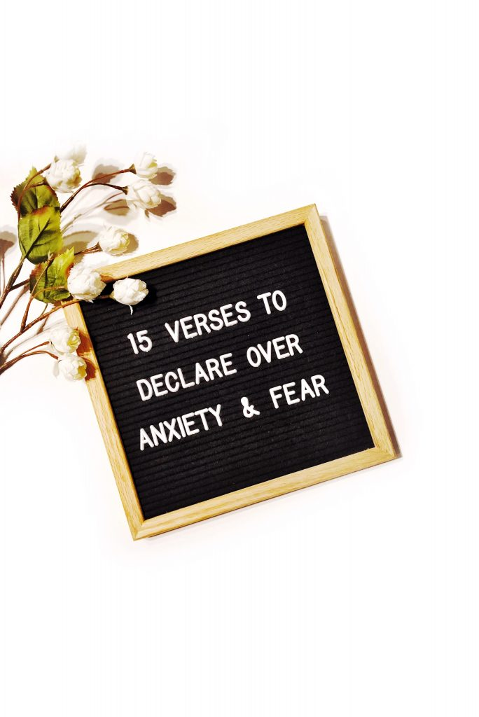15 Verses to Declare over fear and anxiety - in due time blog