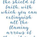 Ephesians 6:14-18 Put on Armor #242
