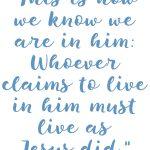 1 John 2:5-6 Live Like Jesus #247