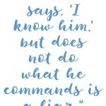 1 John 2:3-4 Keep His Commands #246
