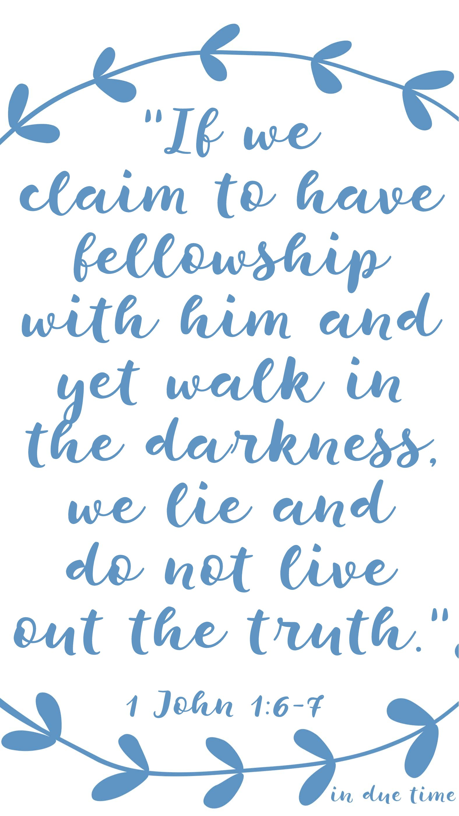 if we claim to have fellowship 1 john 1