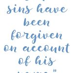 1 John 2:12 Forgiveness of Sins #249