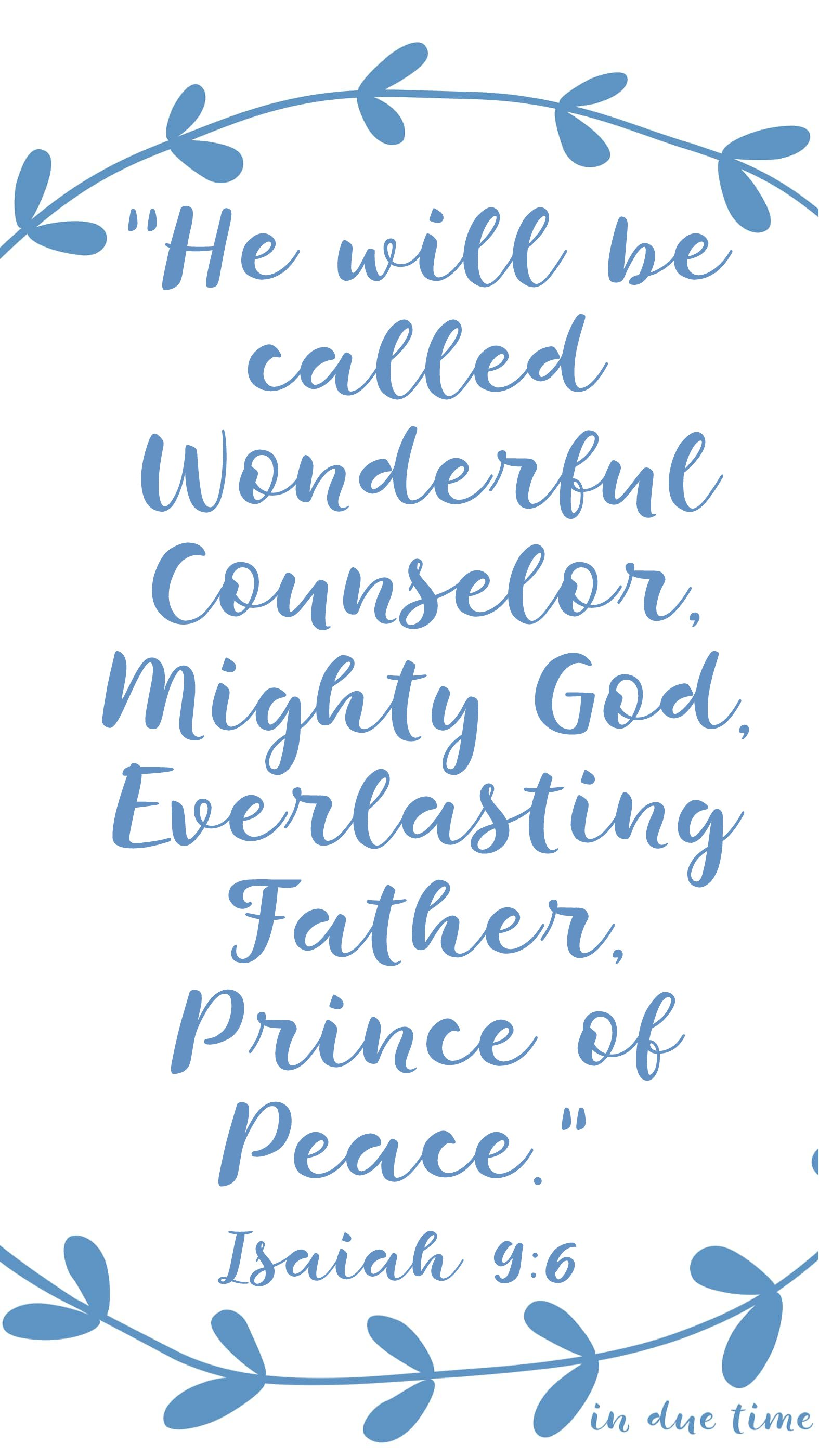 isaiah 9 - prince of peace