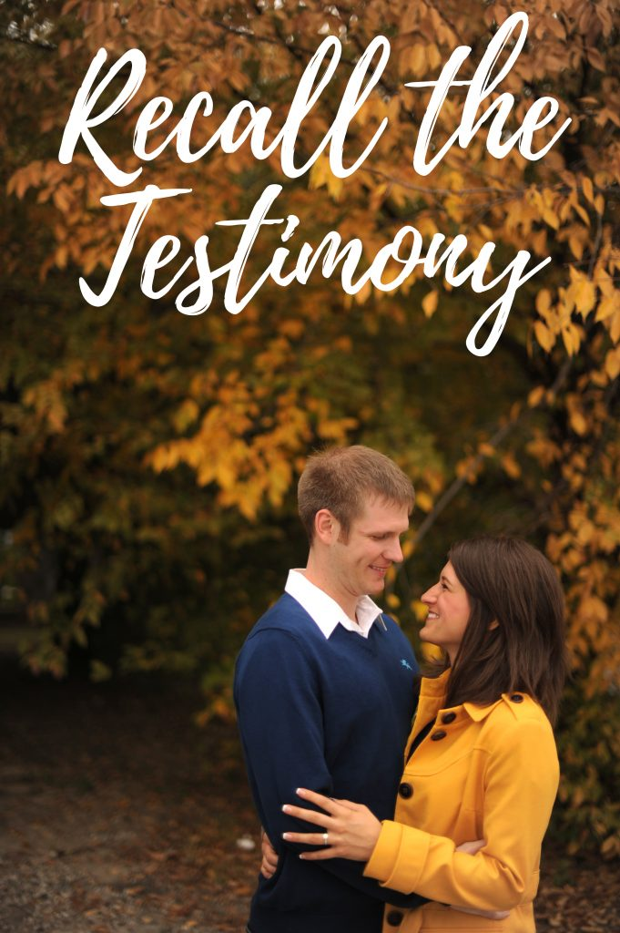 recall the testimony