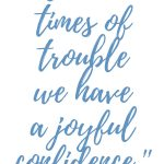 Romans 5:3 Times of Trouble #263