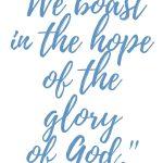 Romans 5:2 Hope of Glory #262