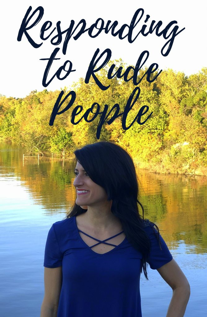 Responding to Rude People in due time blog