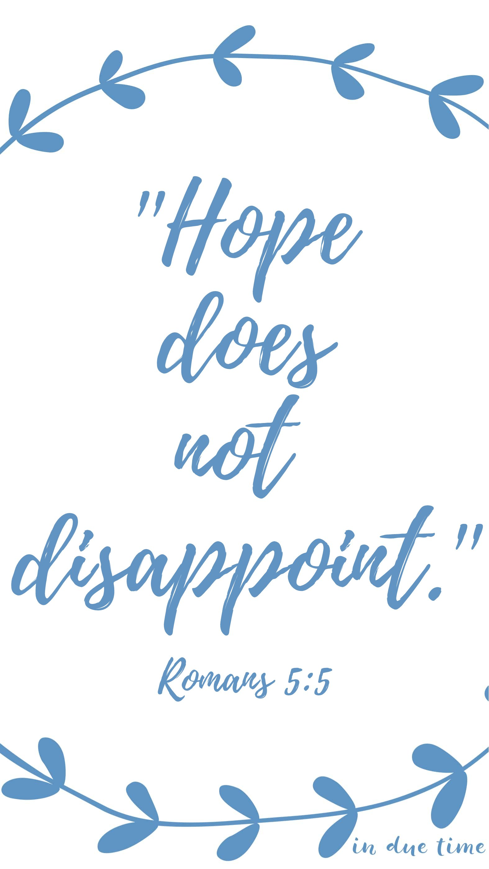 romans 5:5 hope does not disappoint