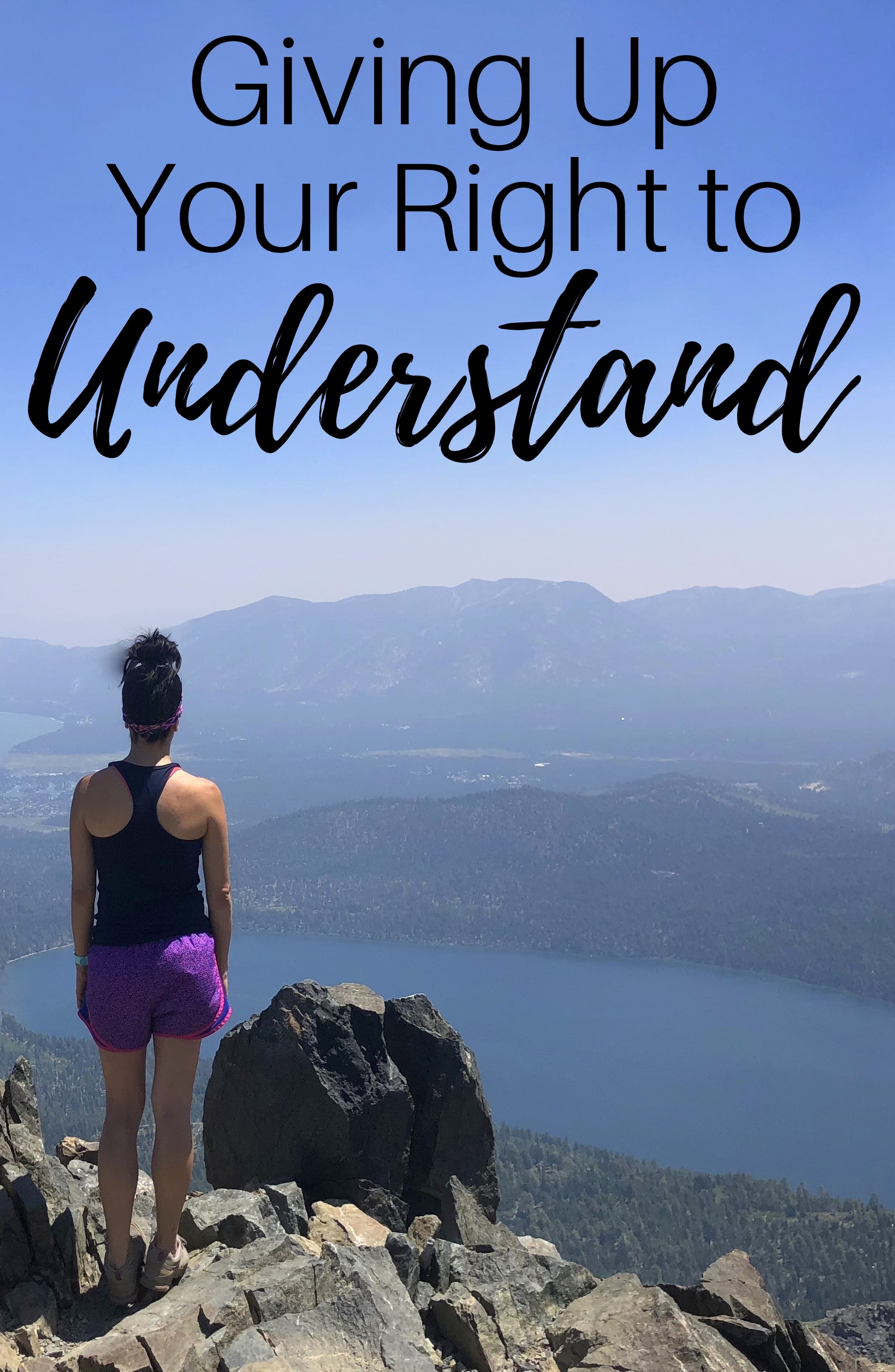 Giving up your right to understand in due time blog