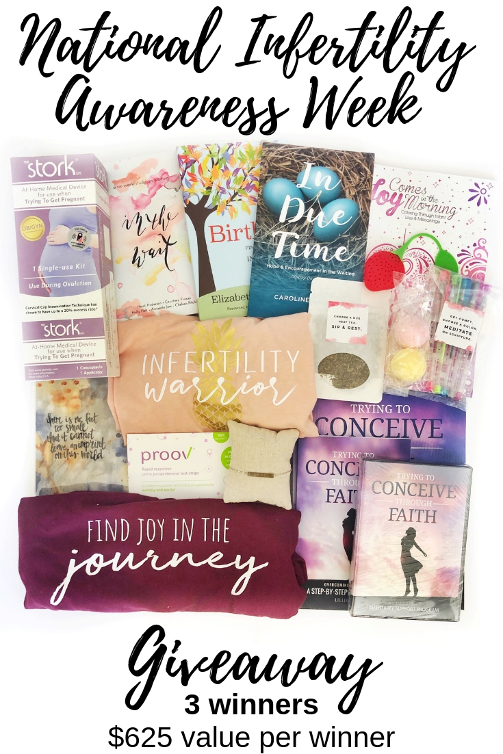 National Infertility Awareness Week Giveaway - In Due Time Blog