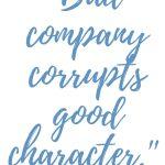 1 Corinthians 15:33 Good Character #273