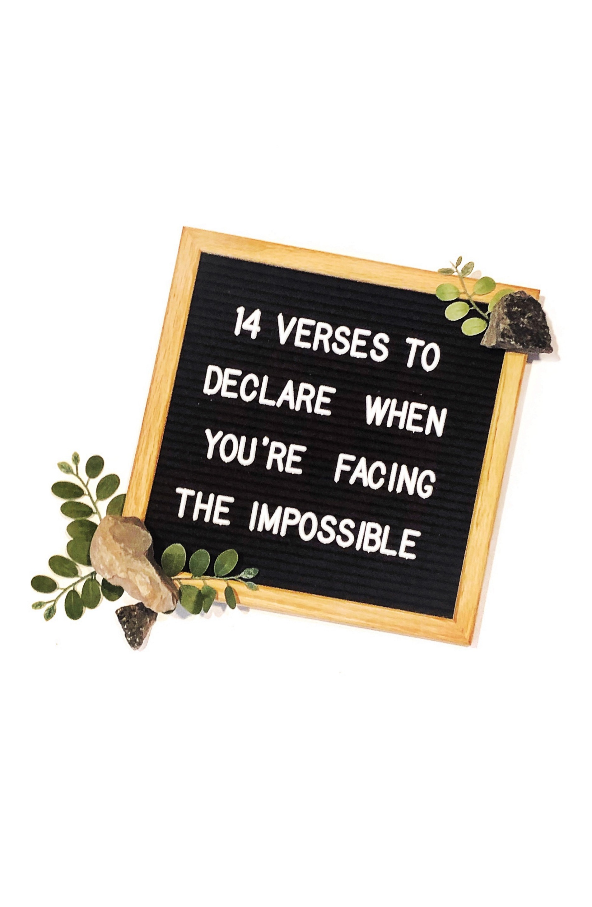 14 verses to declare when you are facing the impossible situations in due time blog