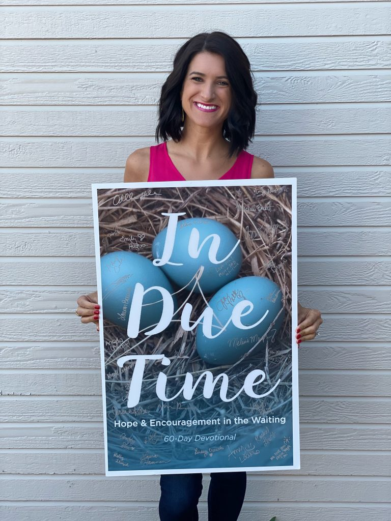In Due Time Devotional - hope and encouragement book for in the waiting infertility
