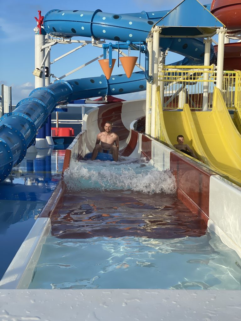 Carnival Horizon water slides1