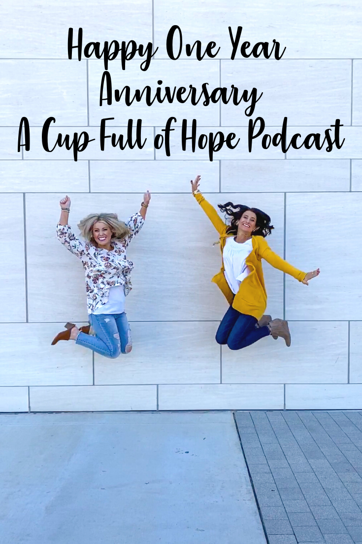 Happy One Year anniversary a cup full of hope podcast