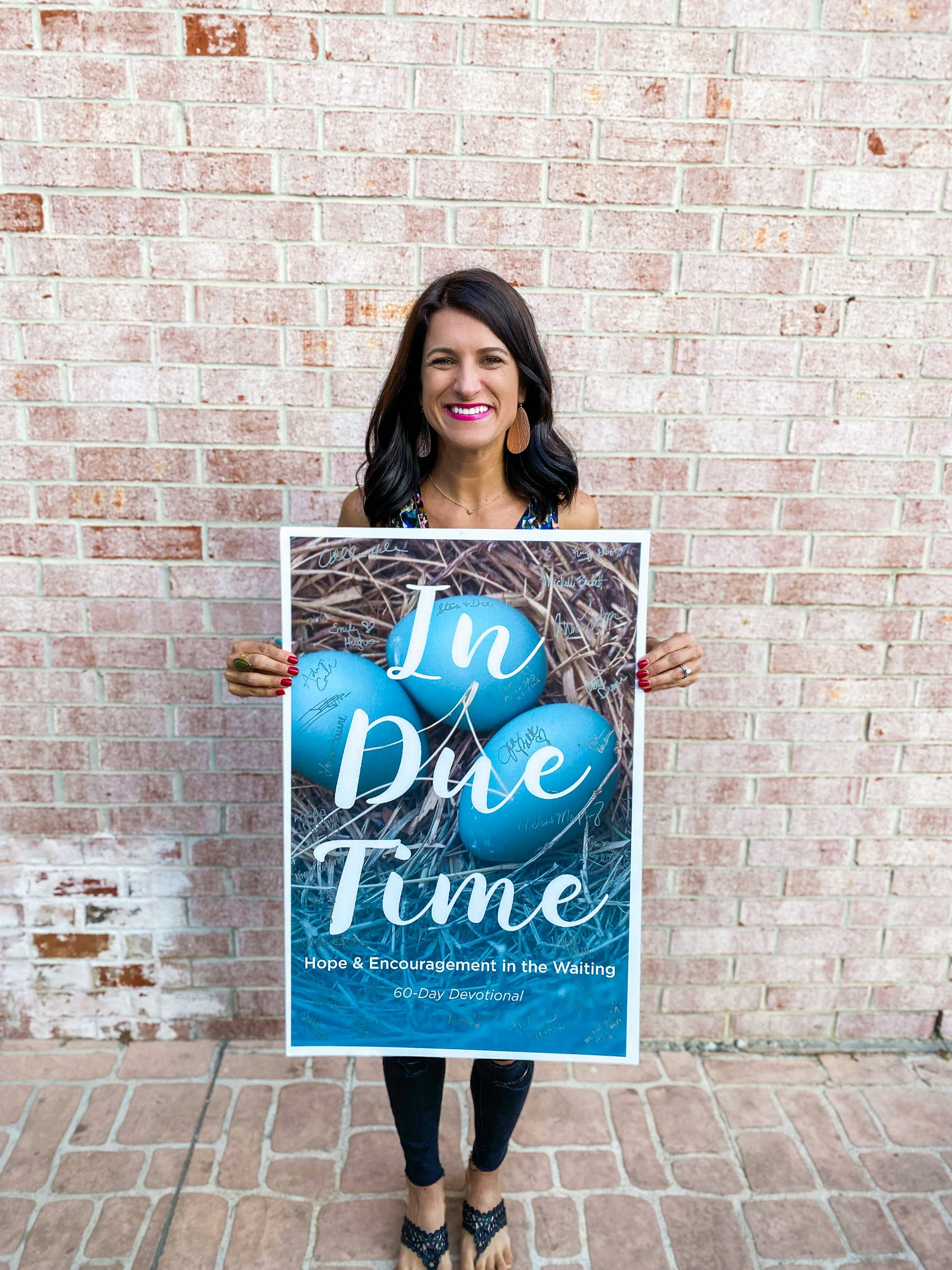 In Due Time Devotional Book Hope and Encouragement in the wait devotional book
