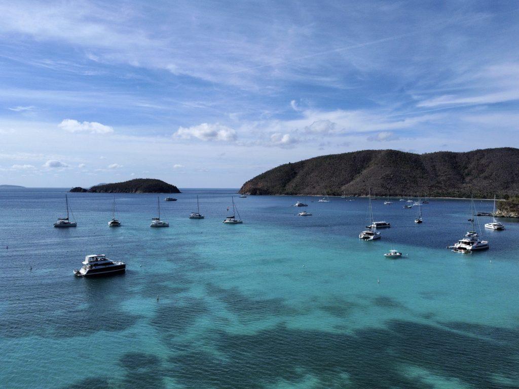 St John Maho Beach Boats