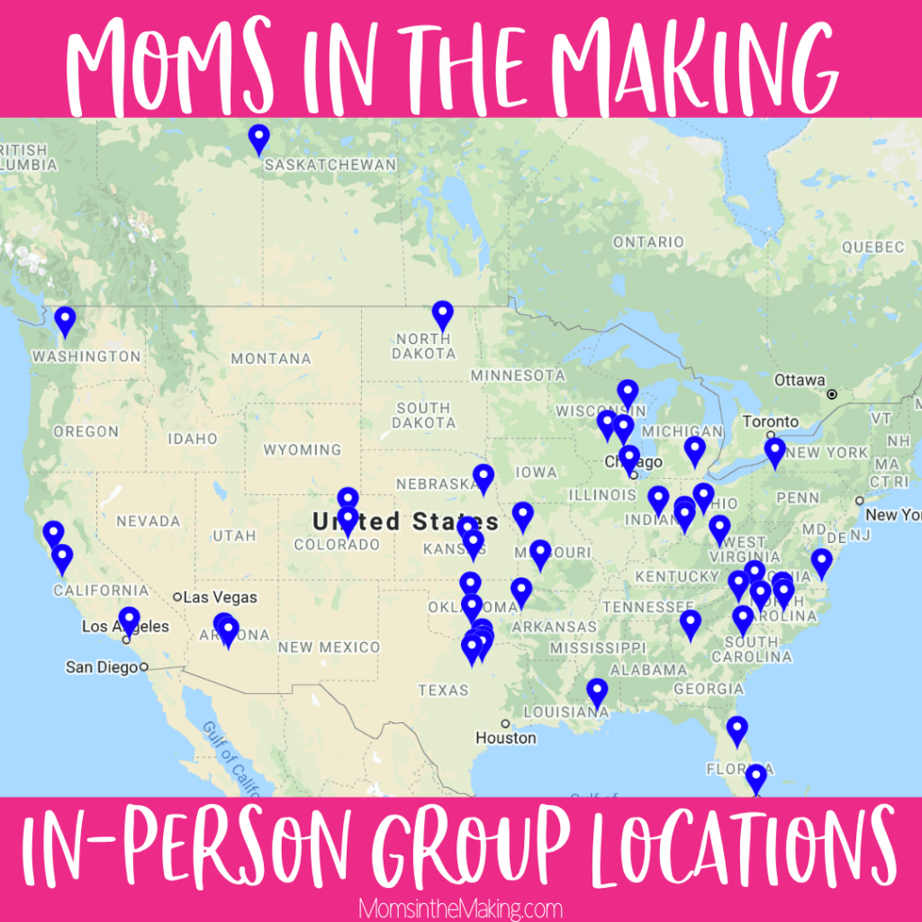 Map of Moms in the Making infertility Group Locations and leaders-5